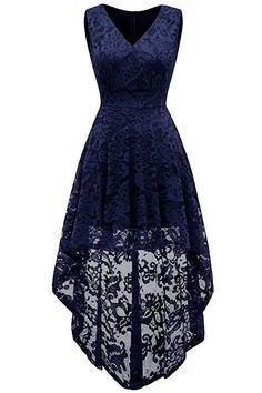 0e03d913 A| Chicloth Simple Cocktail Dresses Lace Short Front Long Back Dresses.  Royal Blue Lace DressLong ...