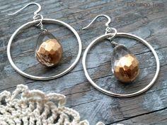DIY Simple Gold Dipped Earrings