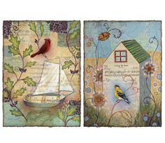 Sail Boat, House, Art Birds, Butterfly, Maps, Music, Prints