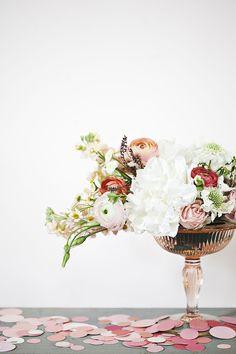 Love the shape of the arrangement.