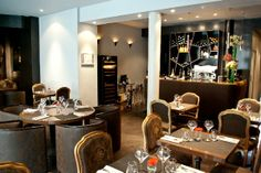 [Le Marcab] - French restaurant. Cosy yet elegant setting where the meals are freshly prepared by the Chef. The menu changes quite often, which makes the restaurant even more attractive. http://www.lemarcab.fr/