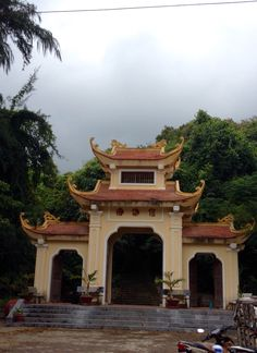 Gate of Van son temple ,Con Dao archipelago island vietnam