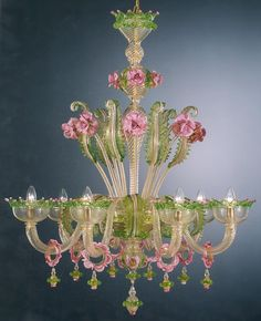 There is no way pics do Venetian glass ANY justice.....should be a bucket list for all going to the island of Murano off of Venice.  Spectacular!!~~~>Rocco Borghese- Murano Venetian Chandelier