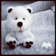 #felt #bear #teddy #needlefelting