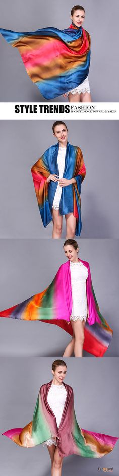 US$12.48 + Free shipping. Women Scarf, Soft Silk Scarf, Summer Scarf, Fashion Scarf, Splicing Colors, Sunshade Scarf, Beach Towel. Color:Rose Red,Navy,Beige,Orange. Shop now!