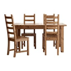 jokkmokk table and 4 chairs antique stain pinterest pine