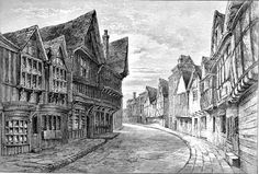 Worcester Friars Street The making of china, vinegar and the famous 'Worcester Sauce' will at one occur to the mind when Worcester is m. Worcester Cathedral, Worcester England, River Severn, Paris Painting, Timber Buildings, 17th Century, Old Houses, Louvre, Street