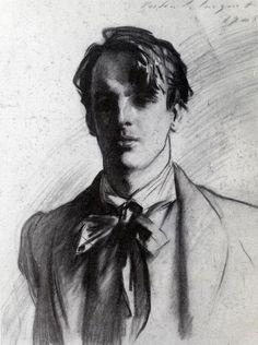 Ritratto di William Butler #Yeats  - artista: John Singer Sargent