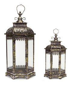 Another great find on #zulily! Silver Lantern Set #zulilyfinds