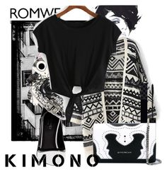 """Knotted Black T-shirt"" by bingsucks ❤ liked on Polyvore featuring Greymer, Gucci and Givenchy"