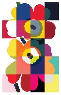 Marimekko Marimekko's symbolic design icon Unikko that turns 50 years this year Icon Design, Print Design, Graphic Design, Textile Patterns, Print Patterns, Family Wall Collage, Art Assignments, Nail Games, Wallpaper S