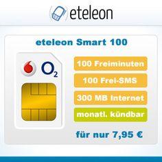100 Freiminuten, 100 Frei-SMS und 300 MB Internet Flat für 7,95 € im Monat *SIM ONLY* - im o2 oder Vodafone Netz