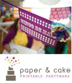 Cinco de Mayo Simulate Mexican Hand Cut Tissue Paper Cinco de Mayo banners by PaperandCake.com