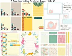 Freebie Journaling Cards for Project Life #1