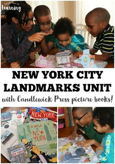 We used gorgeous New York City picture books for this fun and informative New York City landmarks unit study! (ad)