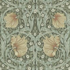 Pimpernel Wallpaper - Bayleaf / Manilla - William Morris & Co The Craftsman Wallpapers Collection Paper Wallpaper, Wallpaper Samples, Wallpaper Online, Home Wallpaper, Wallpaper Roll, Flower Wallpaper, Motifs Art Nouveau, Art Nouveau Pattern, Craftsman Wallpaper