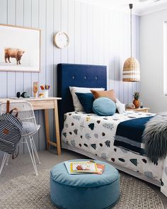 "2,459 Likes, 98 Comments - Tarina Lyell (@oh.eight.oh.nine) on Instagram: ""The boy's room • • • • the colour continues into this fun little room at the new @homebuyerswa…"""
