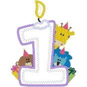 Model per guarnir els números en els aniversaris.