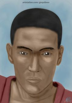 D&D (Neverwinter) - Monk Human Portrait (OC) + Process step by step, Gequibren Art on ArtStation at https://www.artstation.com/artwork/lmV8J