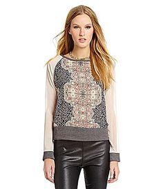 Sanctuary Clothing Mosaic Raglan Sweater #Dillards