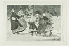 """@ Art Institute of Chicago — Winslow Homer, """"'Winter'—A Skating Scene"""" published by Harper's Weekly January 25, 1868"""