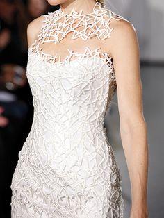 Geometric wedding gown by Romona Keveza