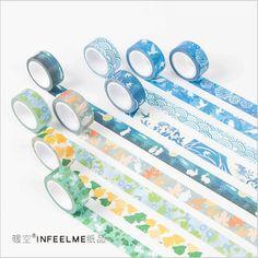 Japanese Kyoto Fresh Flowers & Cartoon Deer Rabbit Decoration Scotch Tape DIY Diary Planner Album Sticker Label Masking Tape #women, #men, #hats, #watches, #belts, #fashion, #style