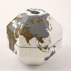 Voyage Foldable Globe Timezone  by geografia -- I really love all of their globes!