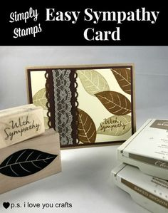 This easy sympathy card uses stamps from Simply Stamps, brown cardstock and brown ink. Card Making Tutorials, Card Making Techniques, Making Ideas, Rubber Stamping Techniques, Simply Stamps, Sympathy Cards, Greeting Cards, Get Well Cards, Fall Cards