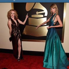 Taylor and Abigail on the Grammy red carpet!