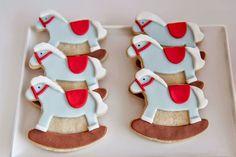 Biscoitos de Cavalinho de Pau Festa de Brinquedos Antigos