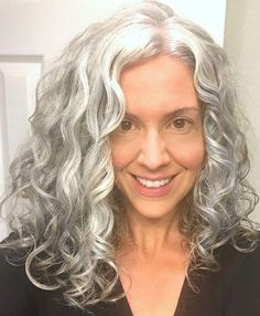 older women 2016 hairstyles Perfect Hairstyles for Long Gray Hair, 410 Gone Intended for Particular Hairstyles for Long Gray Hair Grey Curly Hair, Long Gray Hair, Curly Hair Styles, Emo Hair, Thick Hair, Long Silver Hair, Curly Girl, Women Haircuts Long, Older Women Hairstyles