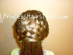 basket weave hair! adorable!