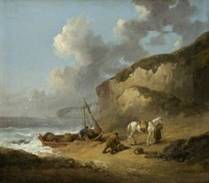 Thanks to my friend Lucinda Brant for sharing this one with me! Sea-Coast Scene, Smugglers, George Morland, 1793