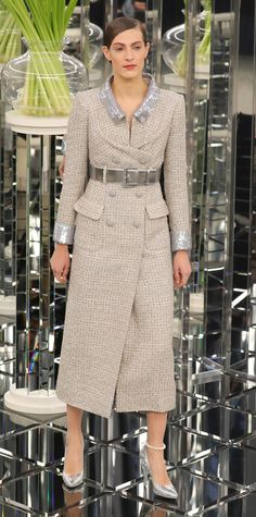 From glitter pastels to power skirt suits, see the looks Karl Lagerfeld sent down the runway.