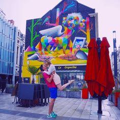 Crazy kissing in Angers France jalimelanjou crazykissing crazykissingproject streetart streetartangers