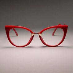 Ladies sexy cat eye glasses frames for women designer optical glasses fashion . - Ladies sexy cat eye glasses frames for women designer optical glasses fashion glasses, - There - Red Cat Eye Glasses, Fashion Eye Glasses, Lunette Style, Mens Glasses Frames, Cute Glasses, Eye Frames, Designer Eyeglasses, Diy Schmuck, Womens Glasses