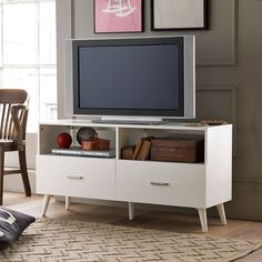 This would be the perfect TV stand to go with my corner desk I plan to get but why is everything I like from west elm. annoying. I can't afford you west elm -media console, west elm, $350