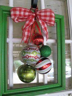 Natal - Moldura Laços e Bolas