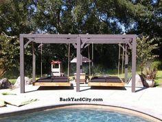 Outdoor Bed Swings | ... garden furniture outdoor wood furniture swing beds nautical swing bed