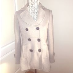INC International Concepts Pea Coat 6 button front • double breasted • Grey with Black buttons • worn a handful of times but good condition •trades INC International Concepts Jackets & Coats Pea Coats