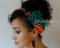 Satin Lined Headband Wrap Head Wrap Pineapple Bun Wrap Ankara Headband Wrap, Wide Headband, Headbands, 2nd Day Hair, Pineapple Bun, Curly Hair Styles, Natural Hair Styles, Bun Wrap, Workout Headband