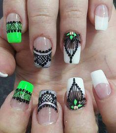 Chic Nails, Nail Polish Art, Nail Decorations, Nail Arts, Finger, Nail Designs, Hair Beauty, Lily, Triangles