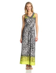NY Collection Women's Sleeveless Printed Maxi Dress at Amazon Women's Clothing store: