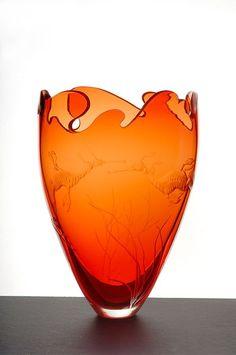 4 Staggering Useful Ideas: Vases Shapes Glass Bottles long vases products.Old Vases vases pattern ceramic pottery. Old Vases, Large Vases, Art Nouveau, Paper Vase, Art Of Glass, Black Vase, Vase Shapes, Glass Vessel, Objet D'art