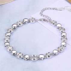 ca33b81297b44c Genuine 925 Sterling Silver and Cubic Zirconia Bracelet. It's an accessory  that enhances your fashion