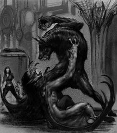 Dracula vs the wolfman vampire werewolf art Werewolf Vs Vampire, Werewolf Art, Werewolf Games, Gothic Vampire, Vampire Hunter, Fantasy Kunst, Fantasy Art, Fantasy Creatures, Angels And Demons