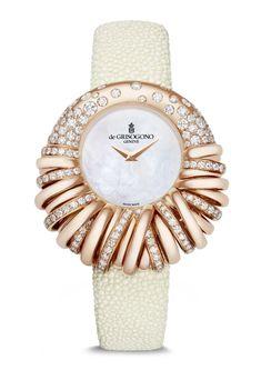 De Grisogono Allegra watch in pink gold with diamonds