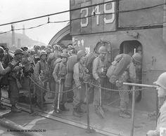 June the 1st 1944. 6.45 pm. Embarking in Portland Harbour.