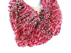 Cowl in Red Denim FREE US Shipping by AllAboutTheButtons, $23.00 USD
